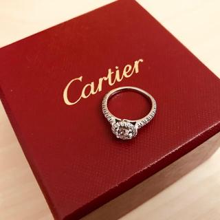 カルティエ(Cartier)のカルティエ ディスティネ ソリテール 0.58ct プラチナ 7号(リング(指輪))