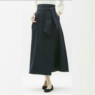 ジーユー(GU)の【GU】サイズS☆チノマキシフレアスカート☆ネイビー(その他)