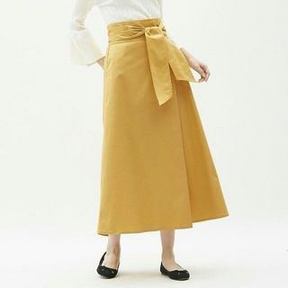 ジーユー(GU)の【GU】サイズS☆チノマキシフレアスカート☆イエロー(その他)