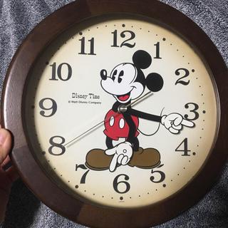 ディズニー(Disney)のミッキーマウス 掛け時計 アンティーク風(掛時計/柱時計)