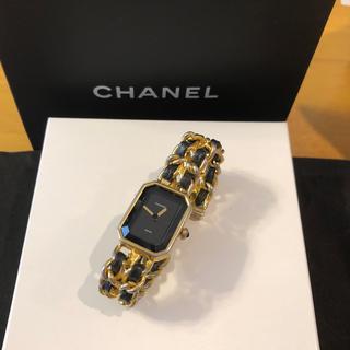53785510fa4c シャネル(CHANEL)のシャネル CHANEL プルミエール 黒文字盤 金色×黒色 ヴィンテージ(腕時計