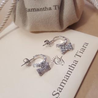 サマンサティアラ(Samantha Tiara)のSamantha Tiara☆サマンサティアラピアス☆CZリボン型ピアス(ピアス)