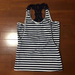 ニシマツヤ(西松屋)の西松屋 新品未使用品 ボーダータンクトップ 授乳服(タンクトップ)