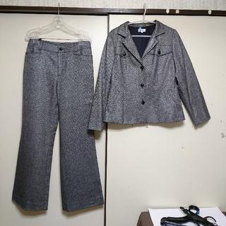 エンスウィート(ensuite)の新品◆定価¥54,600 スーツ上下セット クリーニング済(セット/コーデ)