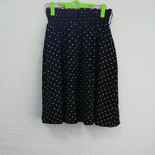 コルザ(COLZA)の白水玉スカート Lサイズ(ひざ丈スカート)