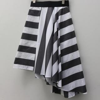 カラー(kolor)のkolor アシメ ストライプスカート(ひざ丈スカート)