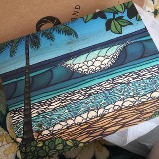 ヘザーブラウン ハワイ ナチュラルウッドアート新品 未使用 ハワイギャラリー購入