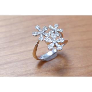 セイレーンアズーロ K18 WG ダイヤモンド 0.73ct リング siren(リング(指輪))