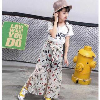 ザラキッズ(ZARA KIDS)の韓国子供服Tシャツ&ワイドパンツ上下セットアップ(その他)