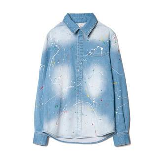 グラム(glamb)のglamb グラム ペンキ ペイント デニム シャツ ジャケット 日高光啓(Gジャン/デニムジャケット)