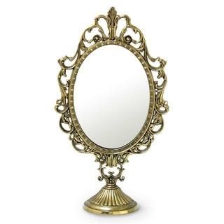 イタリア直輸入 プリンセスミラー L 真鍮 ブラス 鏡 アンティーク調 メイク
