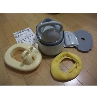 ニシマツヤ(西松屋)の3wayおまる+補助便座+便座カバーセット  used品(ベビーおまる)