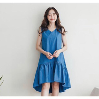 ZARA - 韓国購入 ヘムフレアギャザーワンピース