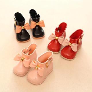 ★新品未使用★ レインブーツ ベビー 長靴 レッド 13cm 13.5cm(長靴/レインシューズ)