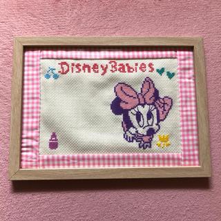 ディズニー(Disney)の【出産祝い】ベビーミニー オリムパス刺しゅうキット 完成品(ネームタグ)