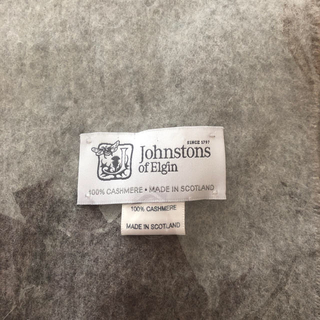 ジョンストンズ(Johnstons)の大人気!ジョンストンズ 大判ストール グレー☆(ストール/パシュミナ)