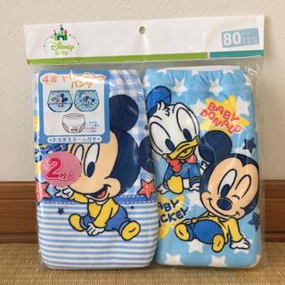 ディズニー(Disney)の✴︎新品 ベビー トレーニングパンツ ディズニー ミッキー ドナルド 80 4層(トレーニングパンツ)