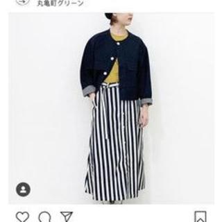 カトー(KATO`)の未使用グランマ ママ ドーター/インディゴストライプ スカート19春夏完売品(ロングスカート)