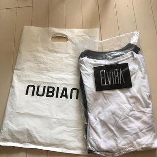 エルヴィア(ELVIA)のエルビラ ELVIRA ティーシャツセット 白黒 ブラックホワイト ロゴ(Tシャツ/カットソー(半袖/袖なし))