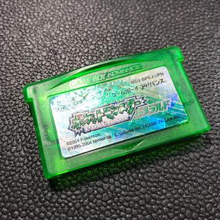 ゲームボーイアドバンス(ゲームボーイアドバンス)のGBA ポケットモンスター エメラルド ポケモン 電池交換済み①(携帯用ゲームソフト)