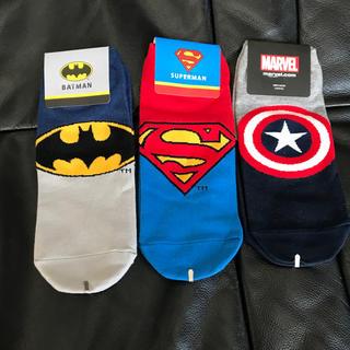 ディズニー(Disney)の新品 メンズ ソックス セット オシャレ スーパーマン バットマン (ソックス)