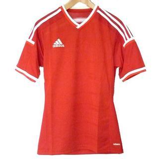 アディダス(adidas)の新品◆(S)adidas 赤VネックアディゼロTシャツ(Tシャツ/カットソー(半袖/袖なし))