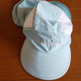 モンベル(mont bell)の美品☆mont-bell キッズ用 日除け付帽子(帽子)