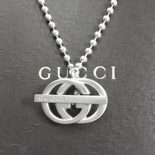 グッチ(Gucci)の正規品 グッチ ネックレス GG インターロッキング SV925 シルバー 3(ネックレス)