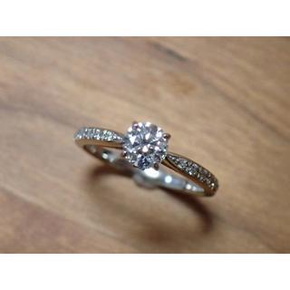 スタージュエリー(STAR JEWELRY)のスタージュエリー Pt950 ダイヤモンド 0.402ct 0.08ct E V(リング(指輪))