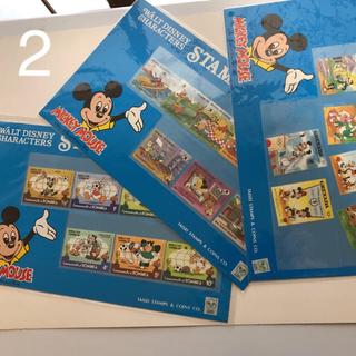 ディズニー(Disney)のディズニー  切手  3枚セット  (プーさん他)(切手/官製はがき)