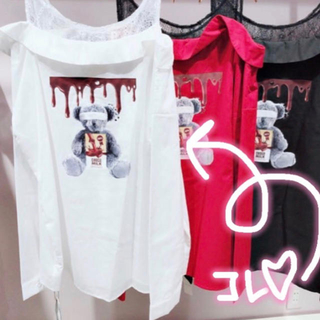 アンクルージュ(Ank Rouge)のチョコレートbear bigシャツ(シャツ)