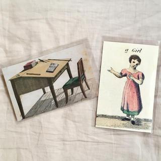 アッシュペーフランス(H.P.FRANCE)のJohn Derian ジョンデリアン ポストカード 2枚セット⑬ desk 机(切手/官製はがき)