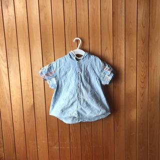 パプ(papp)のパプ半袖デニムフード付きシャツ(Tシャツ/カットソー)