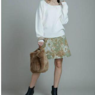 マーキュリーデュオ(MERCURYDUO)のマーキュリーデュオ ゴブラン柄台形スカート 美品(ミニスカート)