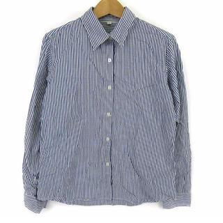 ムジルシリョウヒン(MUJI (無印良品))の美品❗️無印 100%綿 ストライプシャツ   (シャツ/ブラウス(長袖/七分))