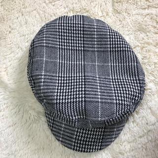 ジーユー(GU)のキャスケット 帽子 キャップ  GU チェック(キャスケット)