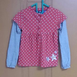 ザラキッズ(ZARA KIDS)のZARA KIDS/110cm/長袖カットソー/重ね着風/赤系(Tシャツ/カットソー)