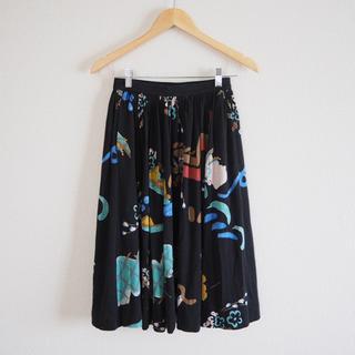 シアタープロダクツ(THEATRE PRODUCTS)のハンドペイントプリント スカート(ひざ丈スカート)