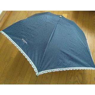 トラサルディ(Trussardi)のTRUSSARDIトラサルディ折りたたみ傘★晴雨兼用★縁どりフリル刺繍🌸(傘)