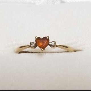 アガット(agete)のオレンジ トパーズ 指輪 k18(リング(指輪))