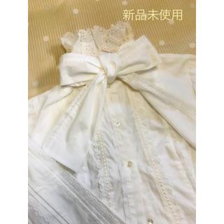 アンジェリックプリティー(Angelic Pretty)のAngelic pretty♡立襟りぼんブラウス♡新品(シャツ/ブラウス(長袖/七分))