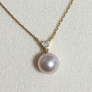 タサキ(TASAKI)の田崎真珠 タサキ TASAKI K18 アコヤ真珠 ダイヤモンド ネックレス(ネックレス)
