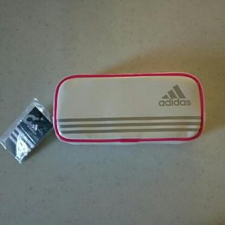 アディダス(adidas)の新品◆未使用「【送料込み】三菱鉛筆 アディダスペンケース(ホワイト)」(ペンケース/筆箱)