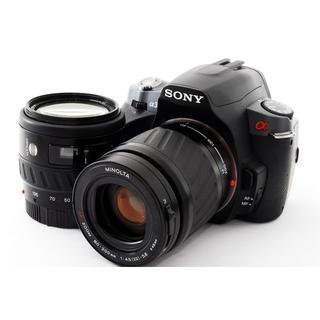 ソニー(SONY)の元箱、新品SDカード付☆SONY α330 ダブルズームセット(デジタル一眼)