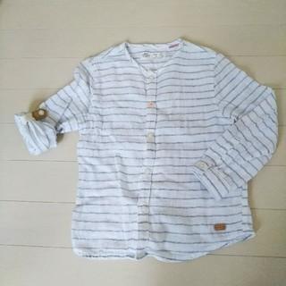 ザラキッズ(ZARA KIDS)のZARA baby ロールアップシャツ 100(ブラウス)