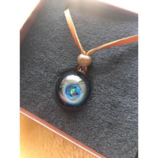 ★正規品★宇宙ガラス+α 宇宙ガラス ブラックオパール ペンダント ネックレス(ネックレス)
