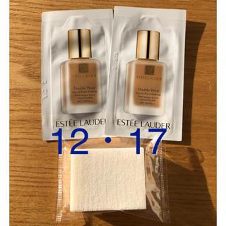 エスティローダー(Estee Lauder)の〈12・17〉エスティローダー  ダブルウェア ファンデーション 専用スポンジ付(ファンデーション)