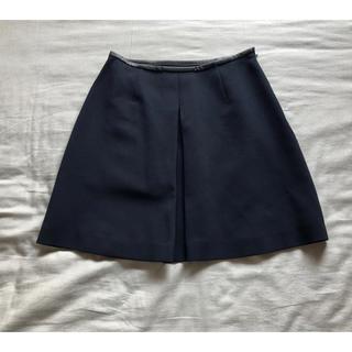 ルシェルブルー(LE CIEL BLEU)の美品 ルシェルブルー スカート 紺色 フレアースカート スタニングルアー(ひざ丈スカート)