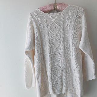 グリモワール(Grimoire)のvintage セーター 手編みニット バージンメリー グリモワール ロキエ(Tシャツ(半袖/袖なし))