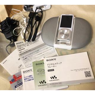 ソニー(SONY)のスピーカー×イヤホン付 新品 SONYデジタルメディアプレーヤー(スピーカー)